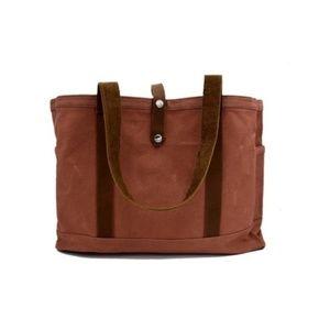 NEW Waxed Canvas Farmers Market Shopping Bag